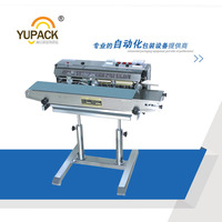 Stainless Steel Automatic Vertical Continuous Heat Sealing Machine With Ribbon Code