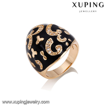 14381 Fashion jewelry luxury ring, women's 18k gold finger ring with diamond zircon