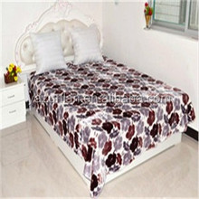 Home Thermal Printed 100% Polyester Blanket 4kg For Adults , 2 Ply Mink Blankets