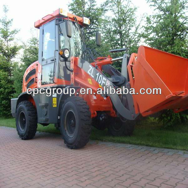 1.0 ton ZL-10F CE wheel loader mini earthmover