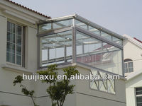 Aluminum Green House With Laminated Glass Balcony Garden glass house Veranda Sunroom