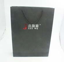 New And Fashion Black Kraft Euro Tote Paper Bags