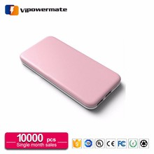 High quality universal mobile phone ipower rohs power bank 10000mah miniso