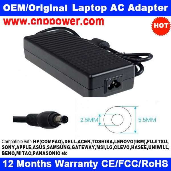 New Laptop AC Adapter for Asus 19V 7.9A Acer PA-1131-07 ADP-150CB ADP-150NB D Charger Power Supply 5.5x2.5mm