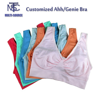 Colorful Wholesale Ladies Seamless Camisole,Genie Bra