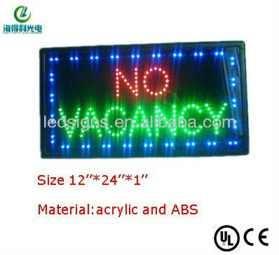 led signs with no wacancy