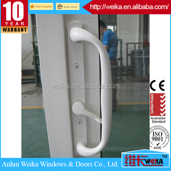 white color lead free vinyl profile american sliding doors with double glass