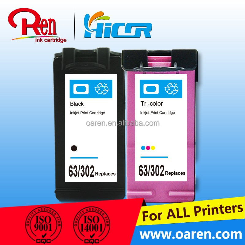 for hp 302/63XL black ink cartridge sponge chip reset to full level ink cartridge for hp 302/63