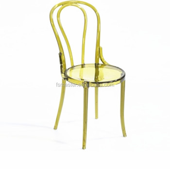 replica wedding bent back clear thonet acrylic pc chair
