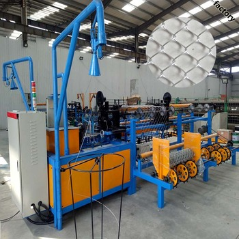 Customer design used fully-automatic chain link fence machine with CIQ