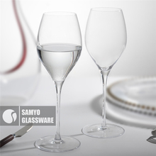 SAMYO wholesale handmade clear stock lead free crystal red wine glass