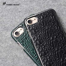 Crocodile pattern electroplated back cover PU leather cell phone case for iphone 4.7 inch for iphone6 6s 7
