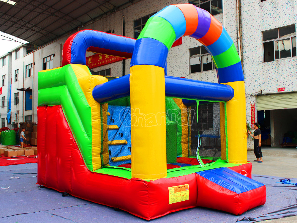 Small inflatable bouncer slide inflatable bouncer combo with slide