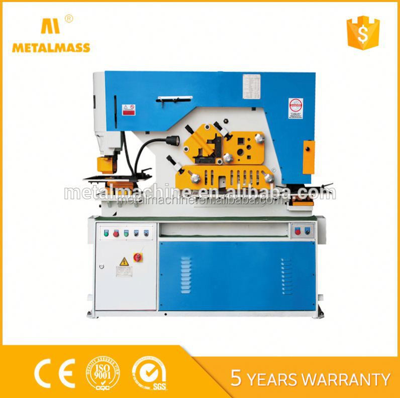 factory direct sales Q35Y multi function ironworker, twin head shearing and stamping machine, universal combined