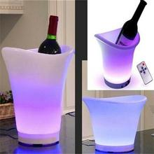 LED shenzhen rechargeable ice pack /design barware ice bucket promotional bottle beer plastic ice bucket
