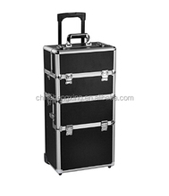 HX-BL150 2017 hot sale 2-wheel 3-in-1 Professional Multifunction Artist Rolling Trolley Makeup beauty train case