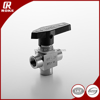 3 way valve 1500psi One-piece Instrumentation Ball Valve for cng and lpg dispenser