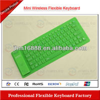 silicone wireless bluetooth keyboard soft case for ipad