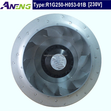 250mm long working life small industrial centrifugal fan with Fergas impeller