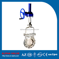 Worm Gear Operated Flanged End Knife Gate Valve