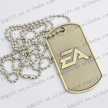 Stainless Steel Custom Design Embossed Dog Tag Party Prize Metal Tag