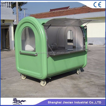 JX-FR220A shanghai jiexian Hot dog selling use cheap hand push cart The best selling mobile bike food cart for sale