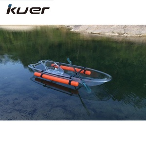 Clear plastic boat transparent kayak with paddle for sale