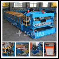 glazed tile making roll forming machine for roof, glazed aluminum roofing ridge cap roll forming machine