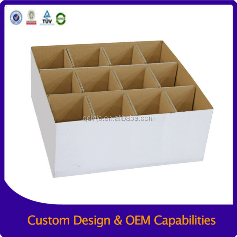 Cardboard display carton of wine, Wine bottle carton box