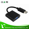 Display Port male to VGA female Adapter 1080P Converter, for computer in black 25cm