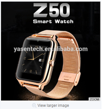 Z50 smart watch android dual sim Smart watch Waterproof Phone with Camera Pedometer Support TF SIM NFC HD IPS