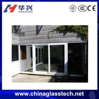 PVC Frame Balcony Kitchen Entry Glass Door Chinese Sliding Door