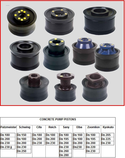 DN230 cylinder piston used for concrete pump