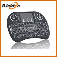 Hot Backlight i8 Mini Keyboard with touchpad i8 Backlit Wireless Keyboard for smart tv up to 15 meters