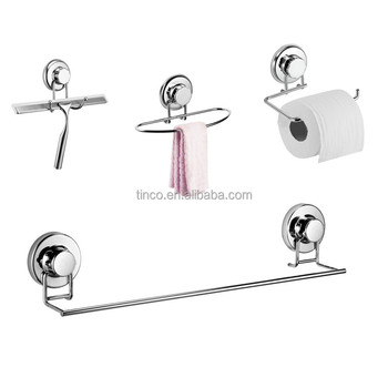 suction cup stainless steel bathroom accessories set