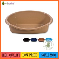 Removable cushion inside,with various size and color plastic pet bed