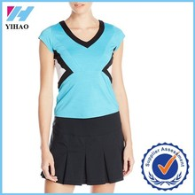 Trade assurance Yihao Wholesale women clothing Women's Uptown Girl Color Block Cap Sleeve Crop Top