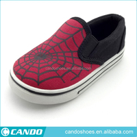 new spiderman pattern printed popular flat canvas shoes for children