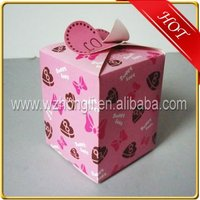 New fashion design paper candy chocolate gift packaging box