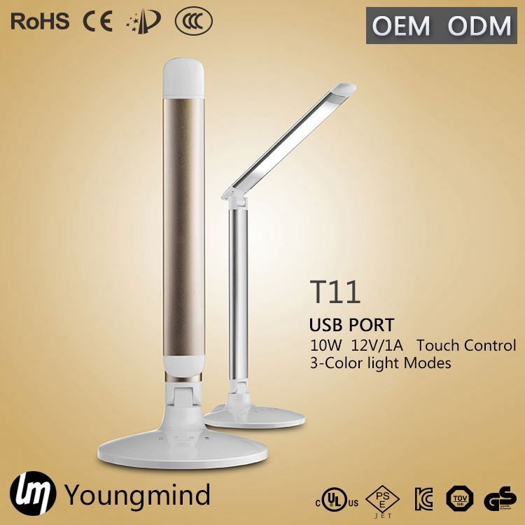 YM LED bed head decoration reading light table lamp with clock