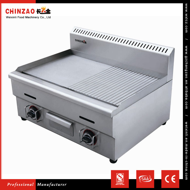 CHINZAO China Alibaba Hot Sale Small Chicken Gas Half Grill And Half Griddle Machine