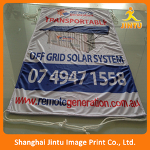 Outdoor sublimation print cheap custom made hanging fabric banner with string