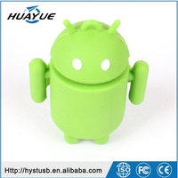 Colorful USB 2.0 8gb 16gb 32gb Android Robit Silicone Case USB Flash Memory With Factory Price