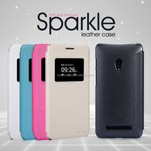 Nillkin Sparkle Series PU Stand Leather Flip Case For Asus Zenfone 5 with Retail Package