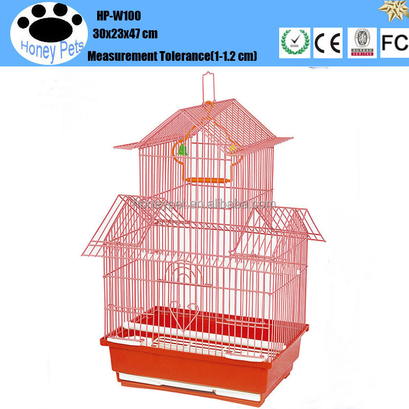 HP-W100 metal chrome parakeet bird cage