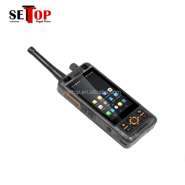 China Waterproof Android 5.1 Dual SIM 3GB RAM 32GB ROM 5000mah battery mobile DMR/Analog Dual Mode Walkie Talkie phone UHF VHF