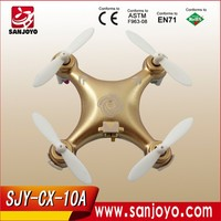 Seres Road CX10A 4CH Headless Mode 2.4GHz RC Mini Quadcopter Drone UFO Toys - Gold