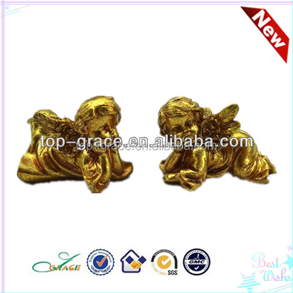new resin gold angel statue figurine wholesale