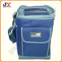 600D polyester insulated large mens cooler bag glass lunch box
