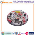Round circle inflatable pvc snow sled snow ski